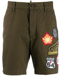 DSquared² Patch Cargo Shorts - Green