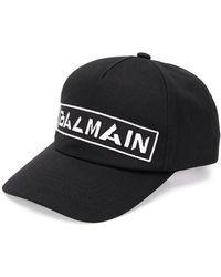 Balmain Casquette à logo brodé - Noir