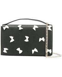 Boutique Moschino Bow Cross Body Bag - Black