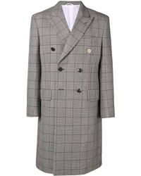 CALVIN KLEIN 205W39NYC Check double-breasted coat - Gris