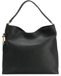 Tom Ford Alix Hobo Tote Bag - Black
