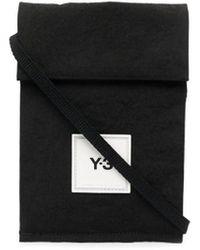 Y-3 ロゴパッチ ポケットバッグ - ブラック