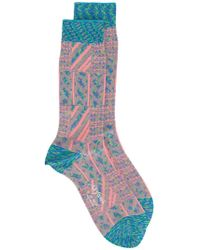 Ayamé Grater Patterned Socks - Green