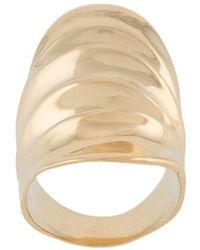 Annelise Michelson Long Draped Ring - Metallic