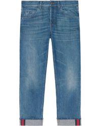 Gucci - Jeans mit Webstreifen - Lyst