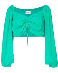 Suboo Lost City Cropped Top - Green