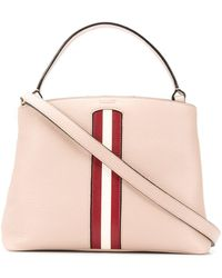 Bally - Contrast Stripe Tote - Lyst
