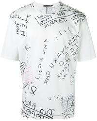 Issey Miyake T-shirt imprimé - Blanc