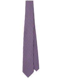 Prada Cravate à motif géométrique - Bleu