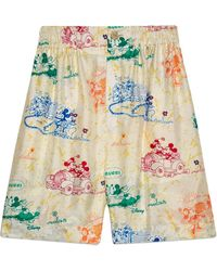 Gucci Disney X Silk Shorts - White