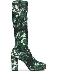 KENZO 'aquarelle' Knee-length Boots - Green