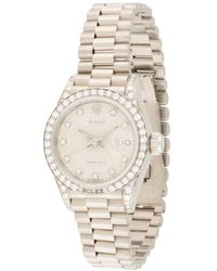 Rolex Наручные Часы Datejust Pre-owned 25 Мм - Металлик