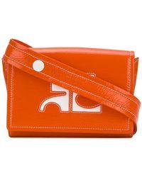 Courreges Logo Waist Bag - Orange