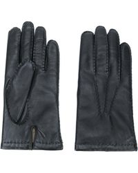 N.Peal Cashmere Chelsea Leather Gloves - Black