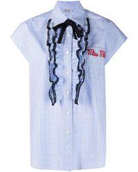 Miu Miu - Camisa con logo bordado - Lyst