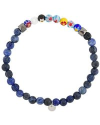 Tateossian Millefiori Semi-precious Stone Bracelet - Blue