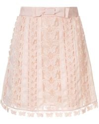 Zimmermann Super Eight flutter mini skirt - Pink
