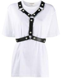 Junya Watanabe ストラップ Tシャツ - ホワイト