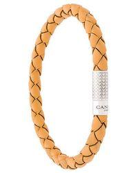 Canali - Logo Plaque Woven Bracelet - Lyst