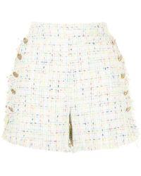 Edward Achour Paris Tweed-style Sailor Shorts - Multicolour