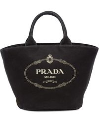 Prada - カナパ キャンバス トートバッグ - Lyst