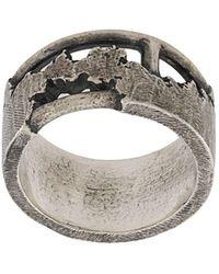 Tobias Wistisen Geconstrueerde Ring - Metallic