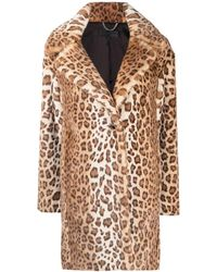 Rag & Bone Leopard Print Faux Shearling Coat - Multicolour