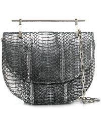 M2malletier Schultertasche im Metallic-Look - Mettallic