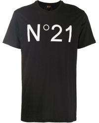 N°21 ロゴ Tシャツ - ブラック