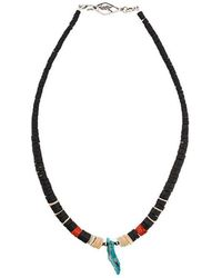 Saint Laurent | Beaded Toggle Necklace | Lyst