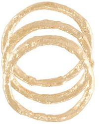 Alice Waese - 14kt Gold Set Of Stacking Rings - Lyst