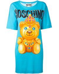 Moschino ベアプリント Tシャツ - ブルー