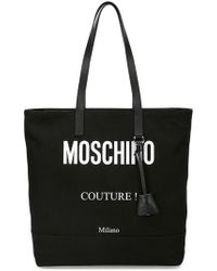 Moschino - Logo Print Tote Bag - Lyst