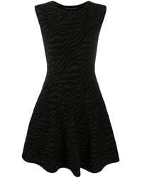 Antonino Valenti Zebra-pattern Mini Dress - Black