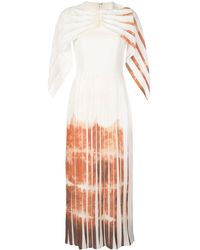 Christian Siriano Kleid mit drapierten Ärmeln - Weiß