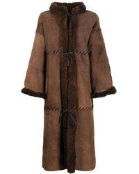Dior Дубленка Миди 1980-х Годов Из Овчины - Коричневый