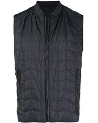 Ferragamo - Quilted Zipped Vest - Lyst