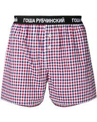 Gosha Rubchinskiy Boxershorts mit Vichy-Karomuster - Rot