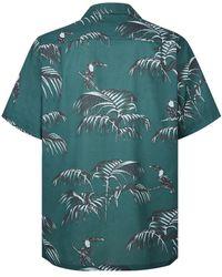 Desmond & Dempsey Camisa de pijama con estampado Bocas - Verde
