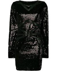 Philipp Plein スパンコール ドレス - ブラック