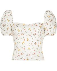Reformation Casterly Floral-print Top - White