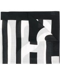 Moschino Sjaal Met Logoprint - Zwart