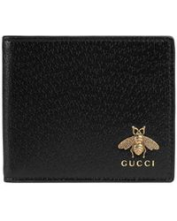 Gucci Animalier Leather Wallet - Black
