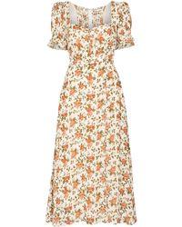 Reformation Midi-jurk Met Bloemenprint - Meerkleurig
