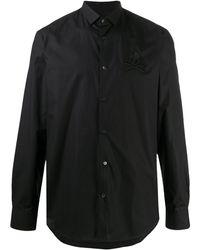 Philipp Plein Рубашка С Вышивкой - Черный