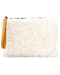 Marni Клатч Из Овчины С Подвеской-логотипом - Желтый