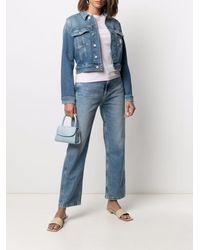 Calvin Klein ハイライズ ストレートジーンズ - ブルー