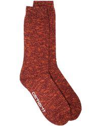 Carhartt WIP バイカラー 靴下 - レッド