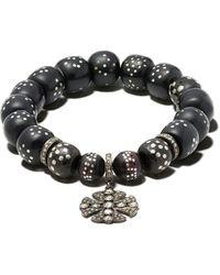Loree Rodkin Beaded Pendant Bracelet - Black