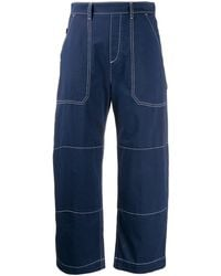 Chloé Cropped Jeans - Blauw